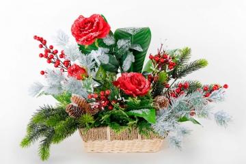 """Кашпо """"Роза в снегу"""" 40 см"""