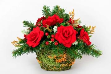 """Кашпо с цветами """"Стифани"""" 35 см"""