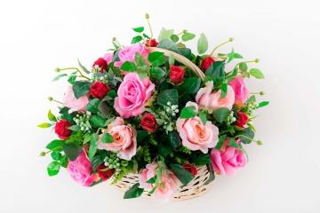 """Корзина из роз """"Брум"""" 40 см"""